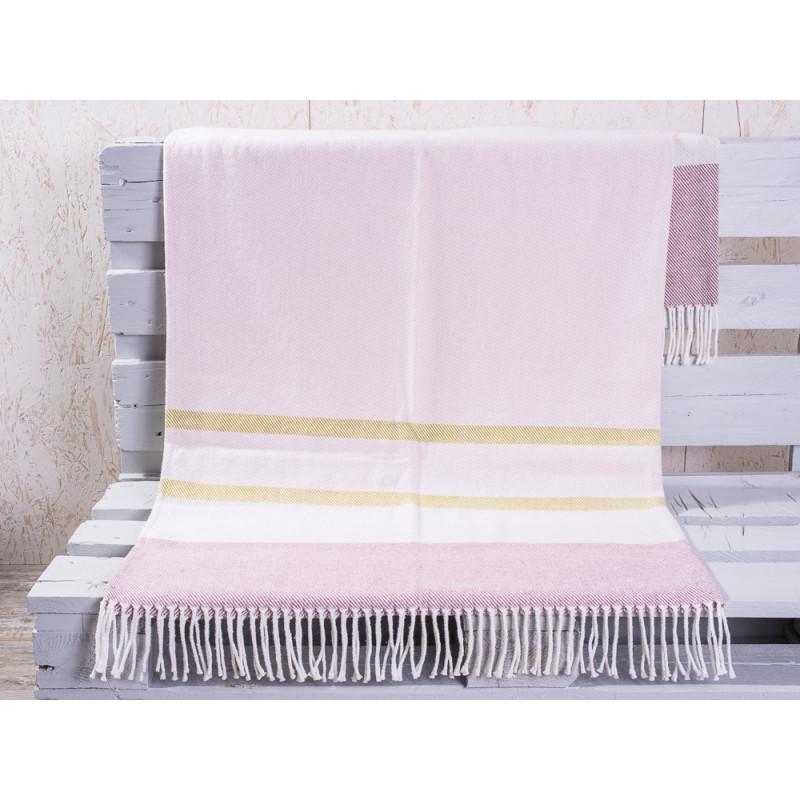 pad concept wolldecke country rosa sch ne weiche wolldecke mit streifen hergestellt in. Black Bedroom Furniture Sets. Home Design Ideas