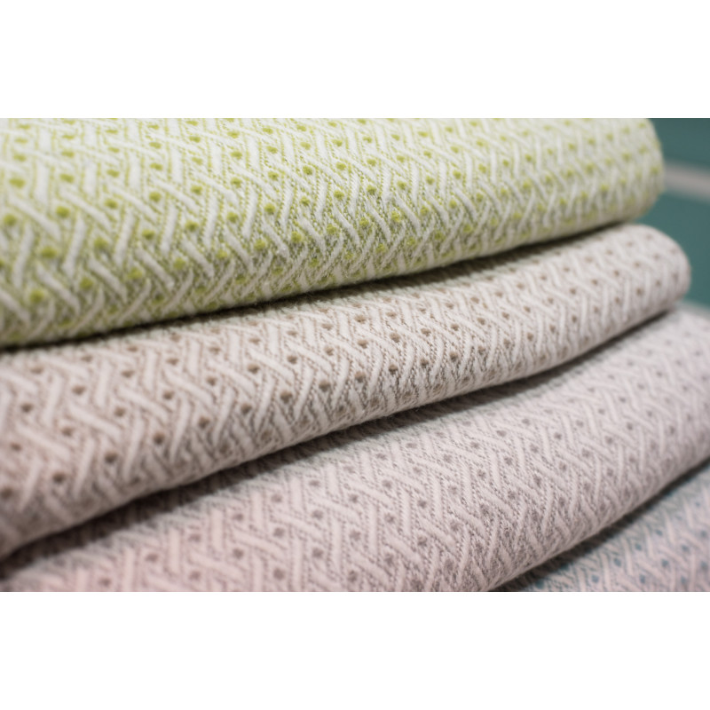 pad concept Wolldecke Madison grün taupe beige grau hellgrau