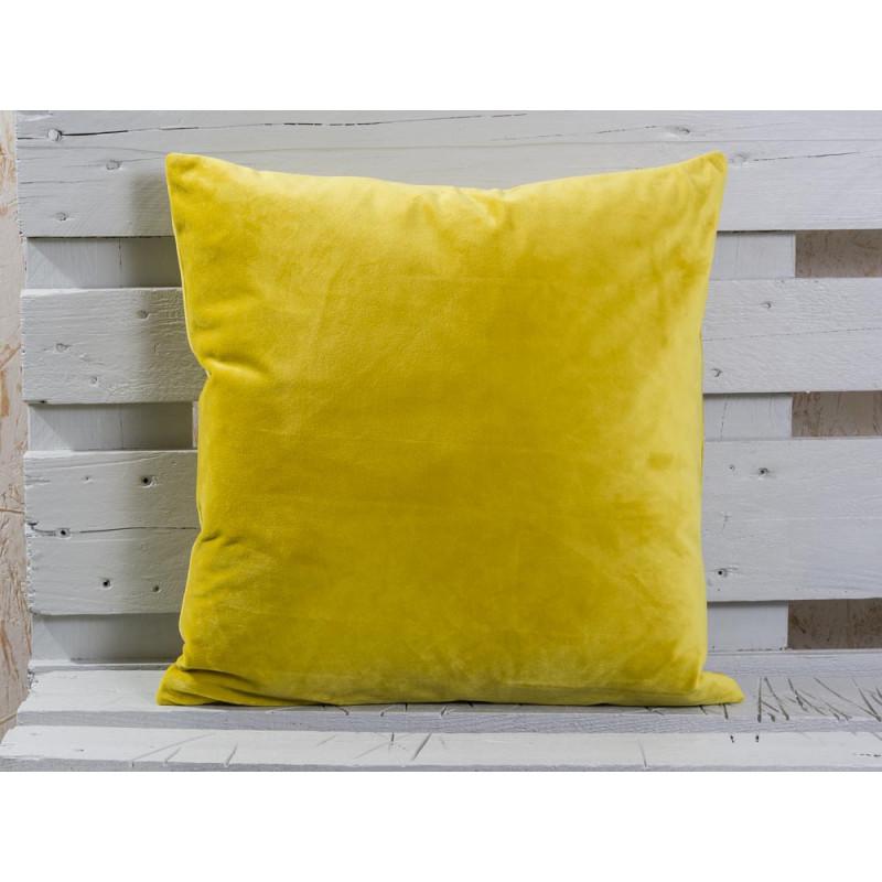senfgelber kissenbezug samt bei wohnhaus welten. Black Bedroom Furniture Sets. Home Design Ideas