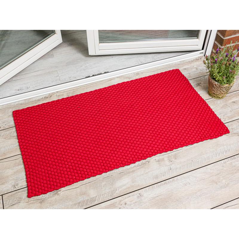 Pad Outdoor Matte Uni Rot Matte 72x132 Pad Concept red für Terrassentür außen Fußmatte waschbar