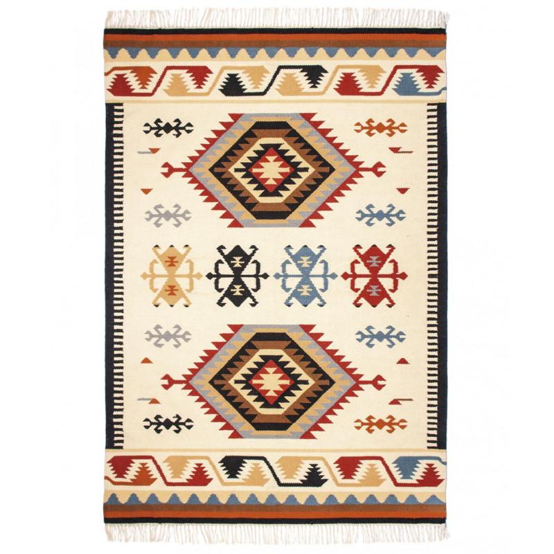 Pad Outdoor Teppich Läufer Quero Matte im Indianer Design fuer den In und Outdoor Bereich in rot