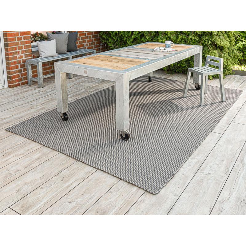 Pad Outdoor Teppich XXL Pool 200x300 cm groß Pad Concept für die Terrasse skandinavische Deko mit Zink Gartenmöbel A2