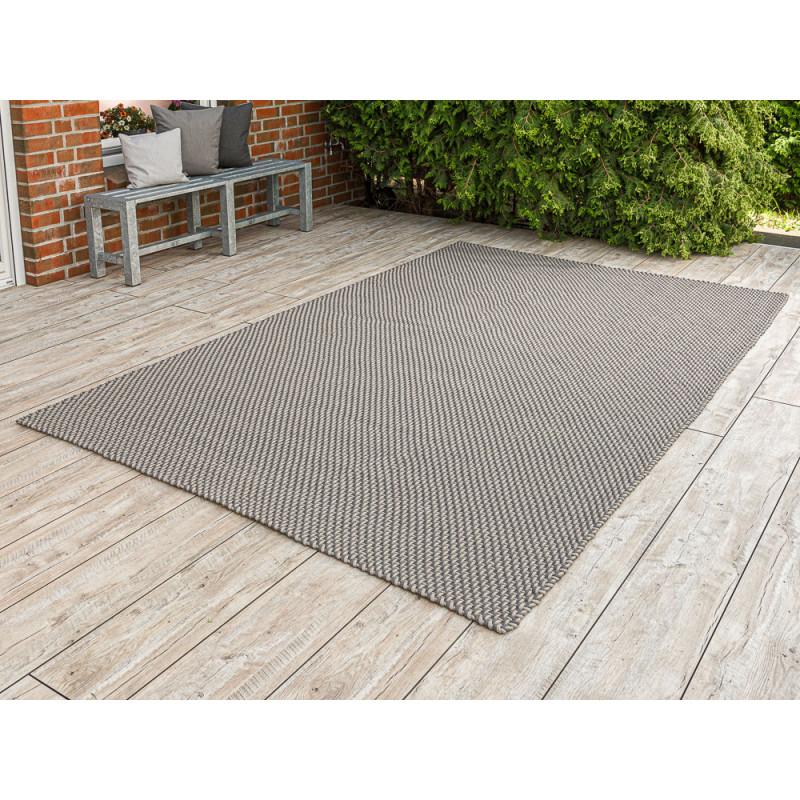 Pad Outdoor Teppich XXL Pool grau beige 200x300 cm groß Pad Concept stone sand für die Terrasse innen und außen waschbar