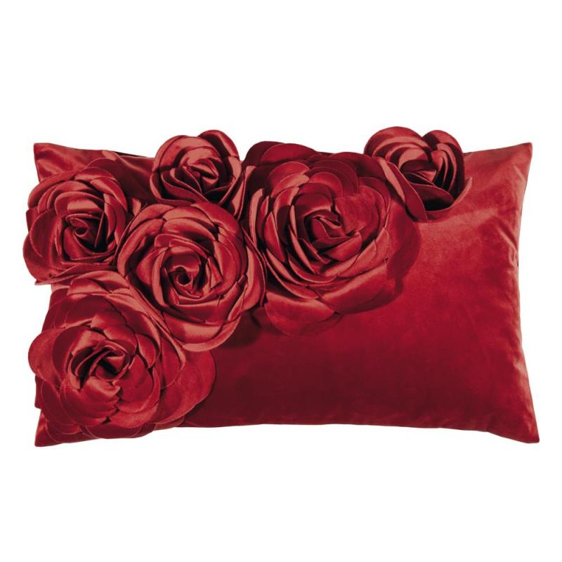 knallroter kissenbezug mit blumen pad concept jetzt online kaufen. Black Bedroom Furniture Sets. Home Design Ideas