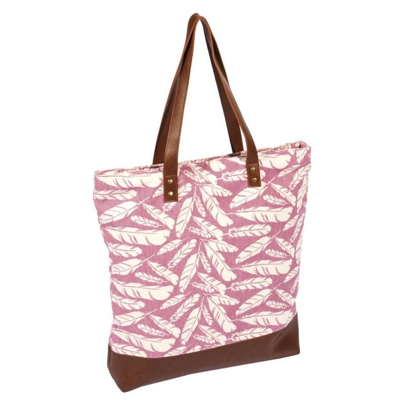 Pad Tasche Feather rosa dusty pink Shopper im Feder Design