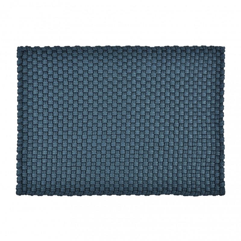 Pad Teppich Uni Blau 72x132 In und Outdoor Matte witterungsbeständig aus recycled Kunststoff Pad Concept Farbe petrol 10609