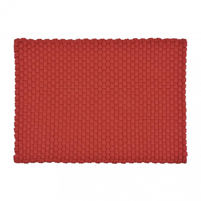 Pad Teppich Uni Rot 72x132 In und Outdoor Matte witterungsbeständig aus recycled Kunststoff Pad Concept Farbe red 10605