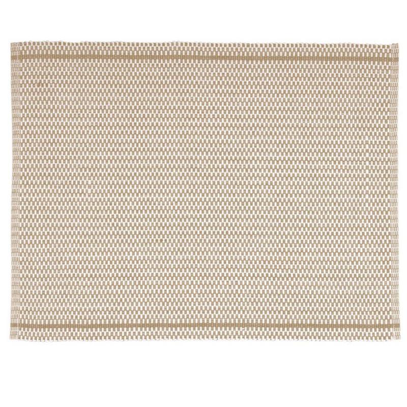 Pad Tischset Quadro beige aus Baumwolle pad concept Platzset