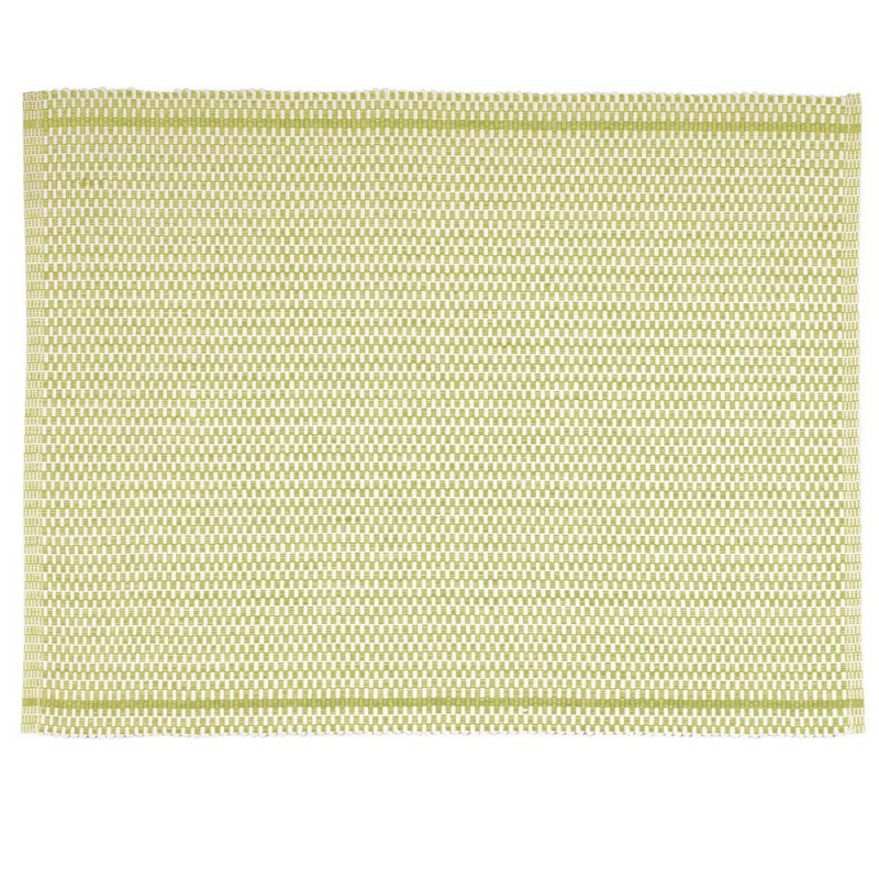 Pad Tischset Quadro grün aus Baumwolle pad concept Platzset