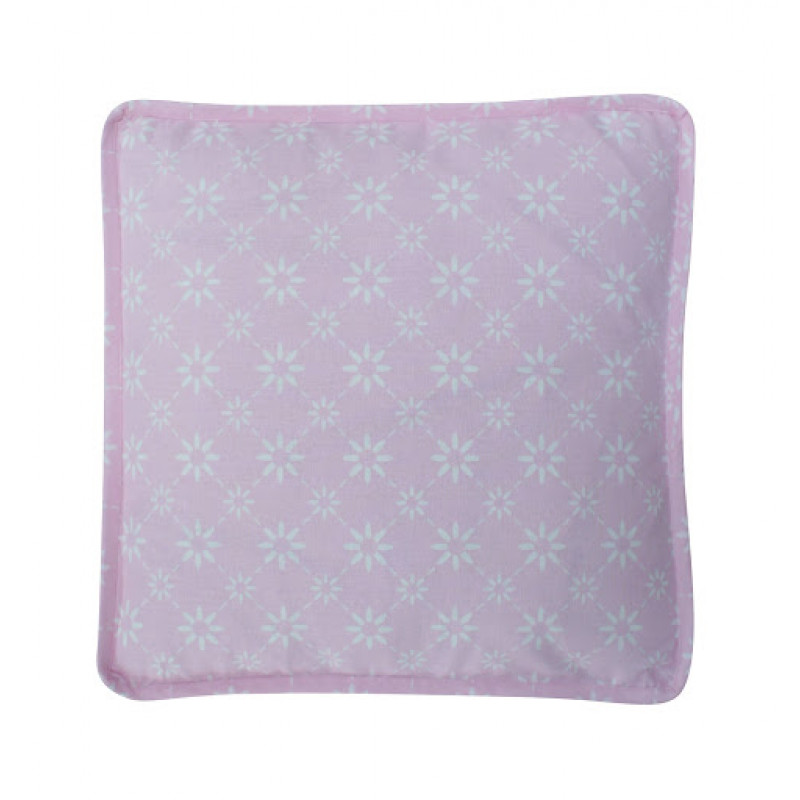 Sitzkissen Diagonal rosa pink Blumen weiß Boxcushion Krasilnikoff