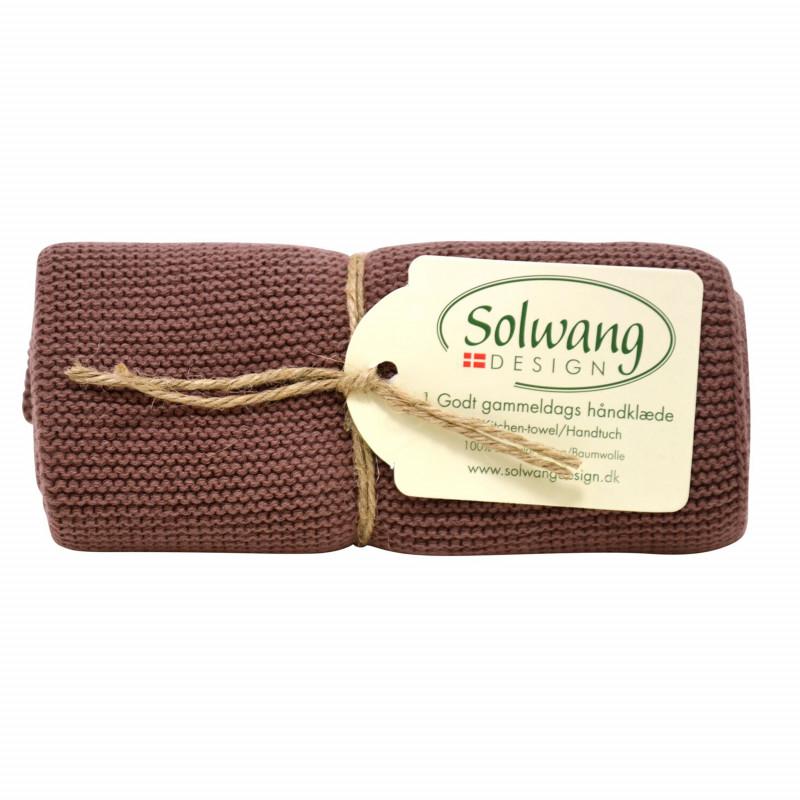 Solwang Küchentuch Schokolade Braun Geschirrtuch aus Baumwolle Solwang Design H84