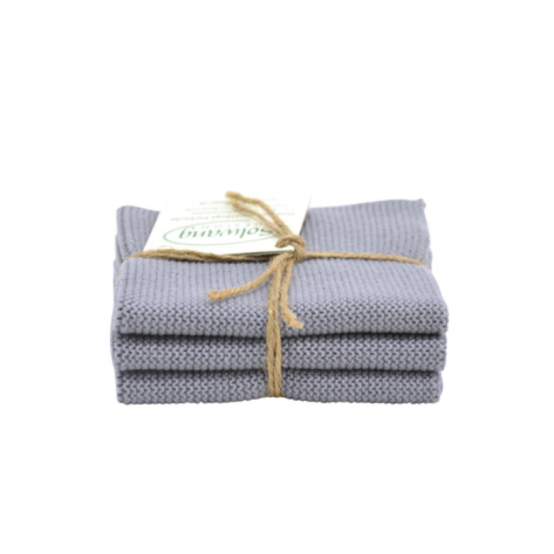 Solwang wischtuch gestrickt stahlgrau 3 wischt cher im - Einfache geschenkideen ...