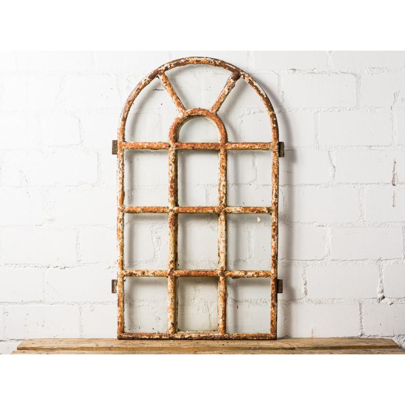 Stallfenster Antik Groß Metall 56x92 cm Mittel Teil seitlich zum Öffnen Sprossenfenster Deko Objekt oder zum Einbauen Unikat Model WW-283