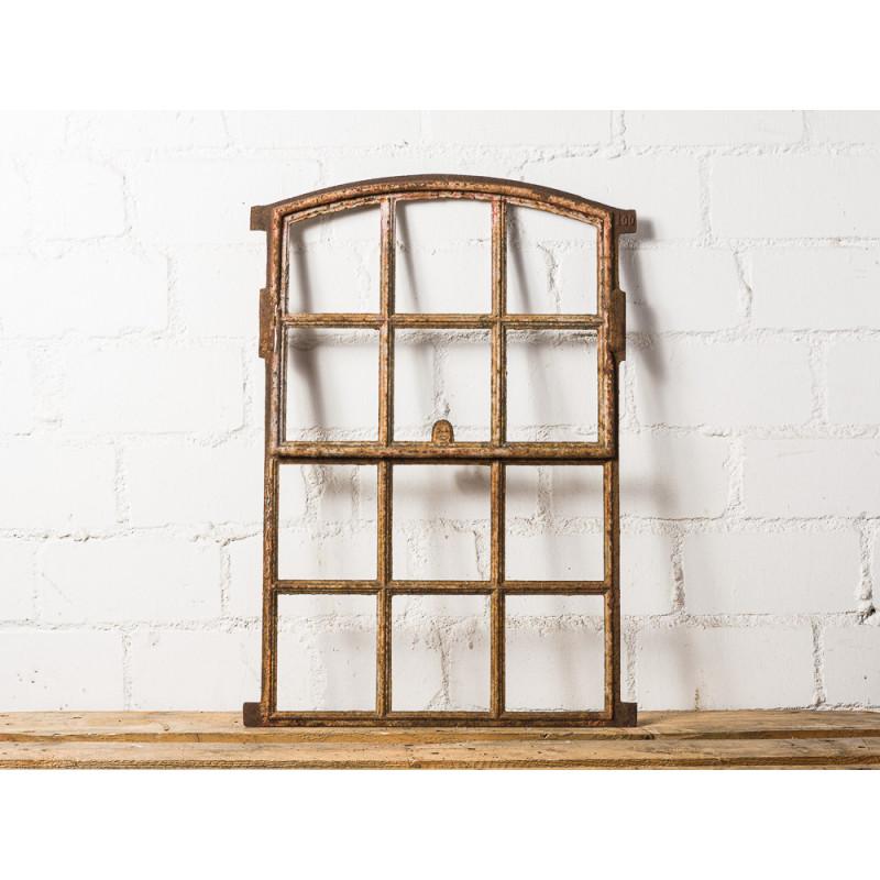 Stallfenster Antik Metall kippbar 51x73 cm mit 6 von 12 Sprossen zum Öffnen klappbar Deko Fenster Unikat für Gewächshaus oder Carport Model WW-277