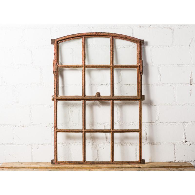 Stallfenster Antik Metall kippbar 60x84 cm mit 6 von 12 Sprossen klappbar Deko Fenster Unikat für Gewächshaus Model WW-274