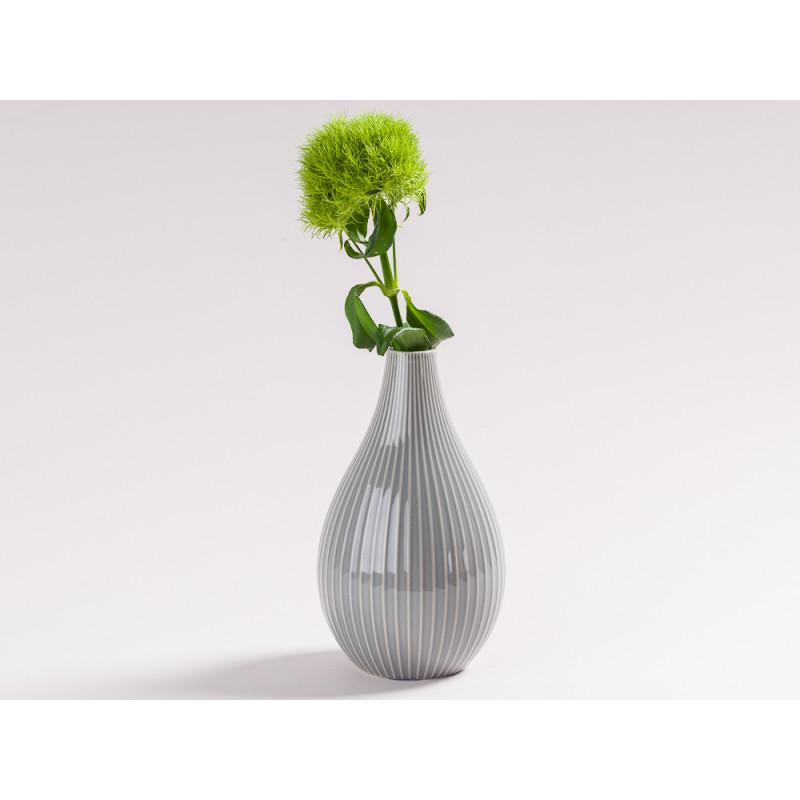 blumenvase irma hellgrau 18 cm keramik hier bestellen. Black Bedroom Furniture Sets. Home Design Ideas