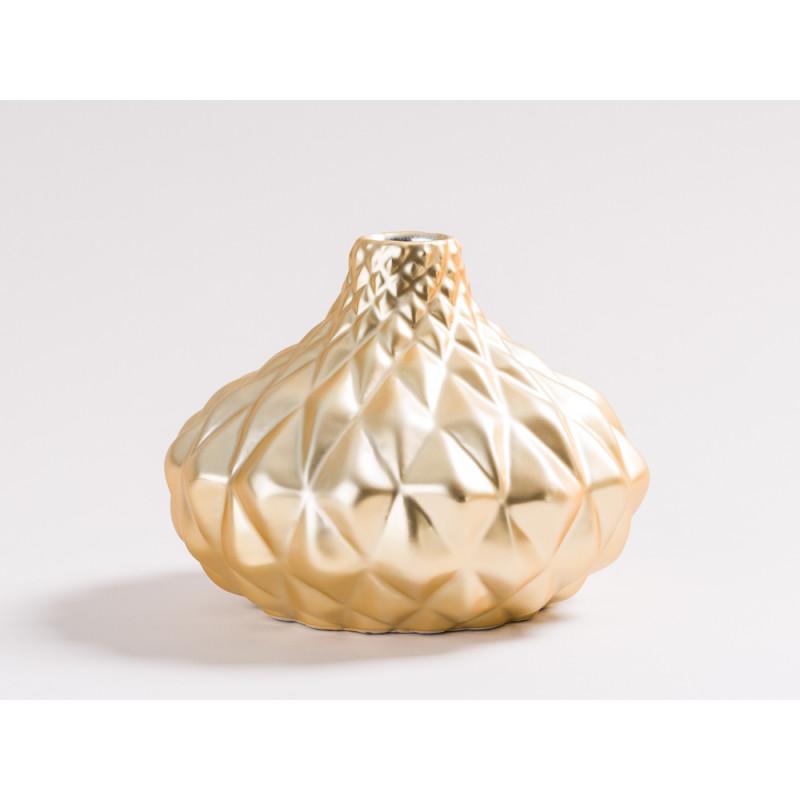 blumenvase scarlett in gold aus keramik hier bestellen. Black Bedroom Furniture Sets. Home Design Ideas