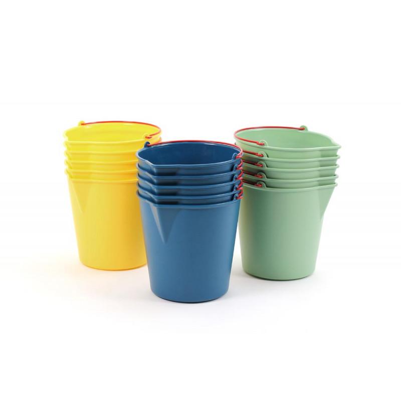 Wassereimer Drop Xala Design Eimer aus LDPE Kunststoff in gelb grün und blau