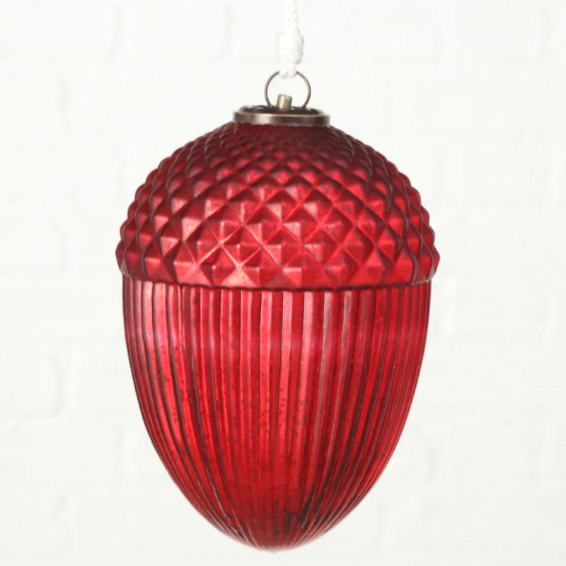Weihnachtsdeko Eichel XL Rot 27 cm groß zum hängen