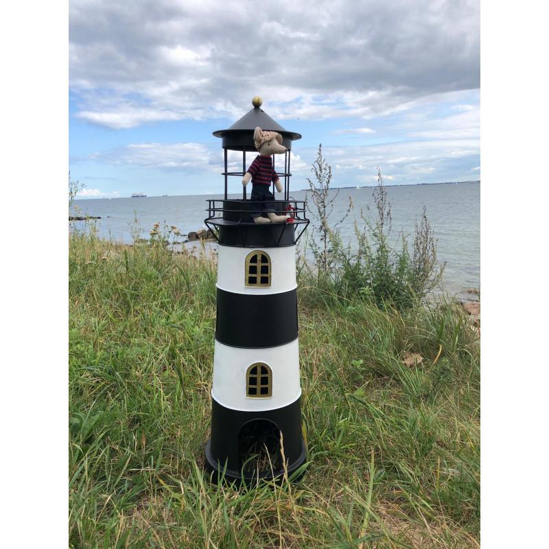 Windlicht Laterne Leuchtturm Kampen mit Maileg Maus Dad