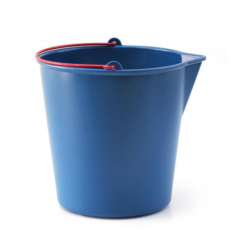 Xala Drop Eimer für 13 Liter blau mit rotem Henkel aus Kunststoff
