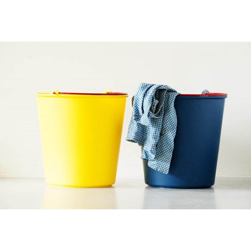 Xala Drop Eimer Putzeimer aus Kunststoff stabil in blau und gelb für 13 Liter