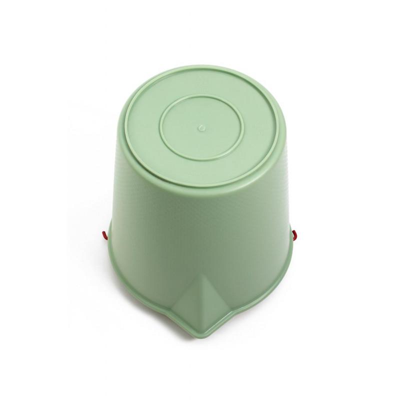 Xala Eimer Drop grün gefertigt aus LDPE Kunststoff 13 Liter Inhalt