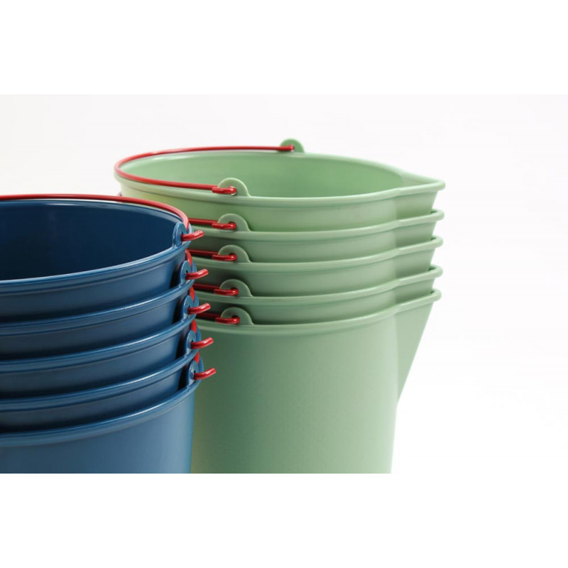Xala Eimer Drop stapelbar aus Kunststoff in grün und blau