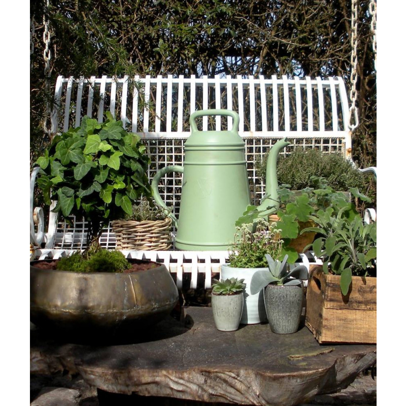 Xala Gießkanne Lungo grün große Nostalgie Kaffeekanne für 12 Liter aus Kunststoff