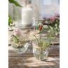 A simple Vase Kehl Glas mit Deckel aus messing Blumenvase mit Verzierungen 2 Stück im Set