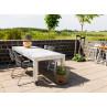 A2 Living Allwetter Gartentisch Pro 10 silber 3er Tisch verzinkt 227 cm rostfreie Gartenmöbel