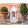 A2 Living Allwetter Laterne Maxi weiß pulverbeschichtet für draußen windfest und wetterfest 60 cm groß aus Metall
