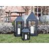 A2 Living Allwetter Laterne schwarz pulverbeschichtet wetterfest im Garten Midi Maxi und Mega groß