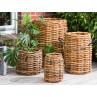 A2 Living Korb Rattan als Pflanzkorb Zeitungskorb oder Aufbewahrungskorb robust und stabil Indoor und Outdoor verschiedene Größen