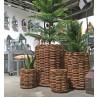 A2 Living Korb Set aus Rattan 3 Größen im Set als Pflanzkorb oder Aufbewahrungskorb