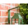 A2 Living Wandhalter Grün für Allwetter Laterne wetterfest verzinkt und pulverbeschichtet rostfrei mit Mini Laterne