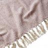 Affari Schweden Wolldecke ANNA Rosane Decke mit Fransen aus Baumwolle Muster Material und Farbe Rosa im Detail