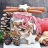 Ambiente Weihnachts Servietten Cookies in Jar Kekse im Glas mit Tannenzapfen Weihnachten