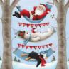 Ambiente Weihnachts Servietten Relaxing Christmas Weihnachtsmann und Schneemann in Hängematte