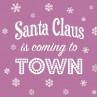Ambiente Weihnachts Servietten Santa is coming lilac mit Schneeflocken Weihnachten