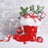Ambiente Weihnachts Servietten Santa's Boot Nikolaus Stiefel