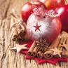 Ambiente Weihnachts Servietten Star on Apple Apfel mit Stern und Schleife Weihnachten