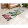 AU Maison Outdoor Teppich Meadow Mint mit Blumen Garten 80x200 lang Läufer für Balkon und draußen waschbar für aus PET recycelt Kunststoff