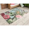 AU Maison Outdoor Teppich XXL Meadow Mint mit Blumen Garten 140x200 waschbar für draussen aus PET recycelt Kunststoff