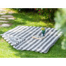 AU Maison Picknickdecke 140x180 groß Schwarz Weiß Streifen Baumwolle Wachstuch Giant Stripe Almost Black Outdoor im Garten