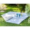 AU Maison Picknickdecke XL Krabbeldecke 140x180 groß Blau Weiß Streifen Braun Baumwolle Wachstuch Stripe Infinity French Blue Toffee Outdoor im Garten