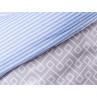 AU Maison Picknickdecke XL Krabbeldecke 140x180 groß Blau Weiß Streifen Braun Baumwolle Wachstuch Stripe Infinity French Blue Toffee wasserabweisend Detail