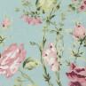AU Maison Wachstuch Sophia Aqua Sky Tischdecke Stoff aus Baumwolle beschichtet türkis mit Blumen 140 cm Meterware zum selber nähen