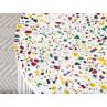 Bloomingville Beistelltisch Terrazzo weiß mit bunten Glassteinen Metall Gestell Detail Stein Tischplatte