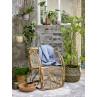 Bloomingville Blumentopf Hänger Natur mit Leder Bändern zum Aufhängen im Garten